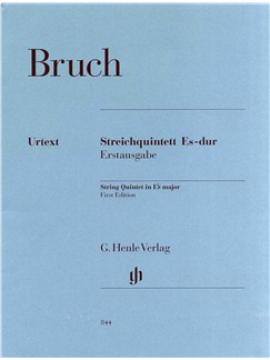 Max Bruch: String Quintet In E Flat - First Edition (Urtext) Books | String Quintet