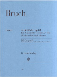 Max Bruch: Eight Pieces Op.83 Books | Clarinet, Viola, Piano