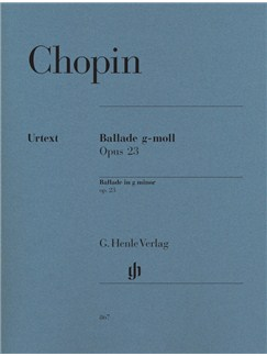 Frederic Chopin: Ballade In G Minor Op.23 Books | Piano