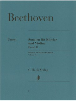 Ludwig Van Beethoven: Violin Sonatas - Volume 2 (Henle Urtext Edition) Books | Violin, Piano Accompaniment