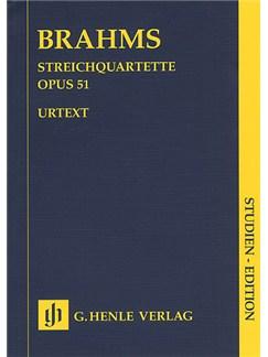 Johannes Brahms: Streichquartett Op.51 (Henle Urtext Edition) Books | String Quartet