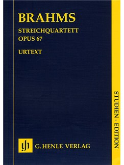 Johannes Brahms: Streichquartett Op.67 (Henle Urtext Edition) Books | String Quartet