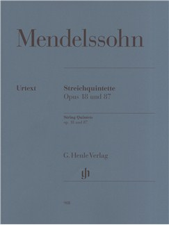 Felix Mendelssohn: String Quintets Op.18 and 87 Books | String Quintet