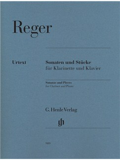 Max Reger: Sonatas And Pieces For Clarinet And Piano (Urtext) Books | Clarinet, Piano Accompaniment