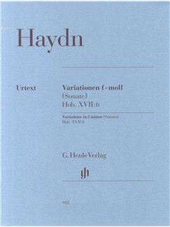 Joseph Haydn: Variations In F Minor (Sonata) Hob. XVII:6 Books | Piano