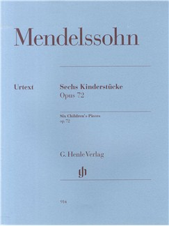 Felix Mendelssohn: Six Children's Pieces Op. 72 Books | Piano