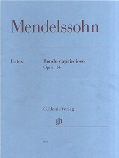 Felix Mendelssohn: Rondo Capriccioso Op.14 (Urtext) Books | Piano