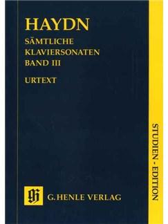 Joseph Haydn: Complete Piano Sonatas Volume 3 (Urtext Study Score) Books   Piano