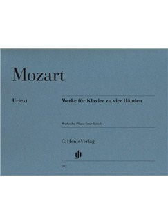 W.A. Mozart: Works For Piano Four-Hands (Revised Urtext Edition) Books | Piano Duet