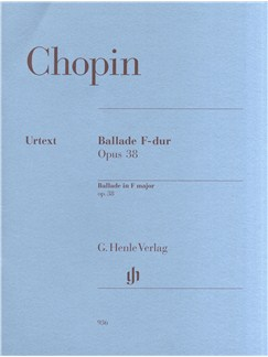 Frédéric Chopin: Ballade In F Major Op.38 Books | Piano