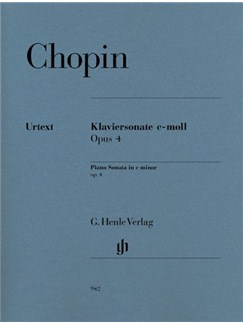 Frédéric Chopin: Piano Sonata In C Minor Op.4 - Urtext Books | Piano