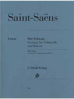 Camille Saint-Saëns: The Swan - Cello/Piano (Urtext) Books | Cello, Piano Accompaniment