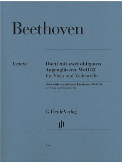 Ludwig Van Beethoven: Duet With Two Obligato Eyeglasses For Viola And Violoncello WoO 32 - Urtext Edition Books | Viola, Cello