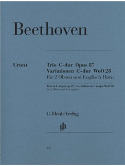 Ludwig Van Beethoven: Trio In C Op.87/Variations In C WoO 28 - Wind Parts (Urtext Edition) Books | Oboe (Duet), Cor Anglais