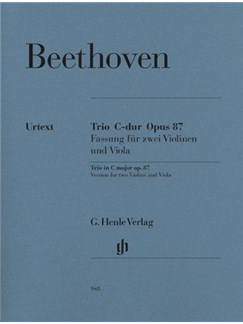 Ludwig Van Beethoven:  Trio In C Op.87 - Parts (Urtext Edition) Books | Viola, Violin (Duet)