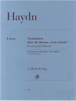 "Joseph Haydn: Variations On The Hymn ""Gott Erhalte"" Version For Piano Books 