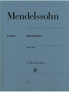 Felix Mendelssohn Bartholdy: Piano Trios Books | Violin/Cello/Piano Accompaniment