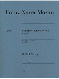 Franz Xaver Mozart: Complete Piano Works Volume I Books | Piano