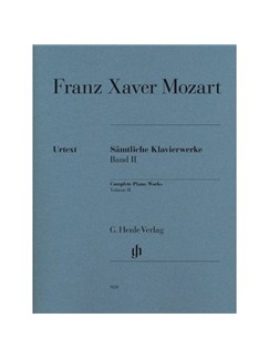 Franz Xaver Mozart: Complete Piano Works Volume II Books | Piano