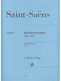 Camille Saint-Saens: Clarinet Sonata Op.167 (Urtext) Books | Clarinet, Piano Accompaniment