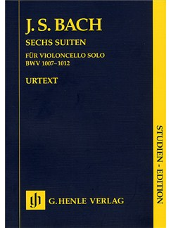 J.S. Bach: Six Suites For Cello (Study Score) Books | Cello