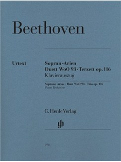 Ludwig Van Beethoven: Soprano Arias, Duet WoO 93, Trio Op.116 Books | Soprano, Tenor, Bass Voice, Piano Accompaniment