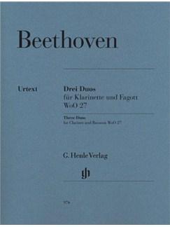 Ludwig Van Beethoven: Three Duos for Clarinet and Bassoon WoO.27 Books | Clarinet, Bassoon