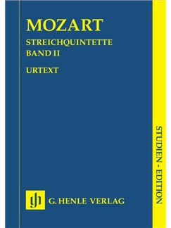 Wolfgang Amadeus Mozart: Streichquintette Band II (Urtext) Books | String quintets