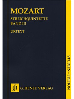 W.A. Mozart: Streichquintette Band III - Urtext (Study Score) Books | String Quintet