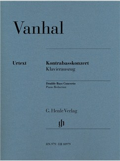 Johann Baptist Vanhal: Double Bass Concerto Books | Double Bass, Piano Accompaniment