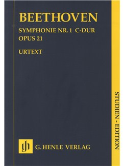 Ludwig Van Beethoven: Symphony No.1 In C Op. 21 (Henle Urtext Edition) - Study Score Books | Orchestra