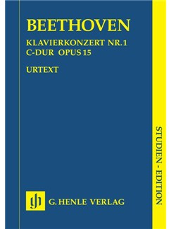 Beethoven: Piano Concerto No.1 In C Op.15 - Study Score (Henle Urtext Edition) Books | Piano, Orchestra