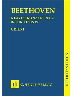 Beethoven: Piano Concert No.2 In B Flat Op.19 (Henle Urtext Edition) - Study Score Books | Piano, Orchestra