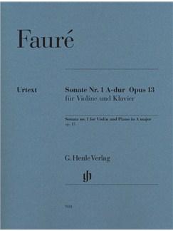 Gabriel Faure: Sonata No.1 For Violin And Piano In A Major Books | Violin, Piano Accompaniment