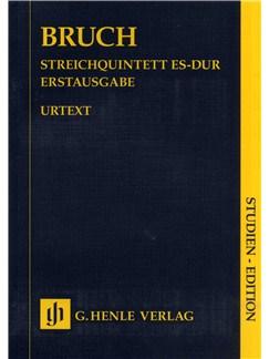 Max Bruch: Streichquintett Es-Dur Erstausgabe - Urtext (Study Score) Books | String Quintet