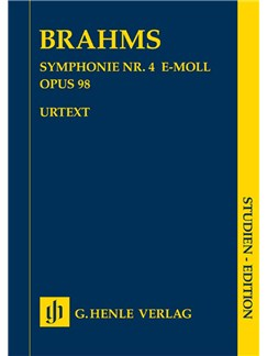 Johannes Brahms: Symphony No.4 In E Minor Op.98 (Study Score) Books | Orchestra