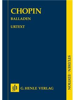 Frederic Chopin: Ballades (Study Score) Books   Piano