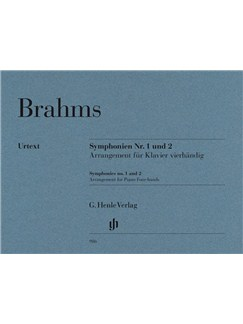 Johannes Brahms: Symphonies Nos. 1 and 2 - Piano Four-hands Books | Piano Duet