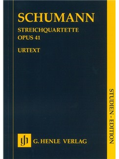Robert Schumann: String Quartets Op. 41 (Study Score) Books | String Quartet