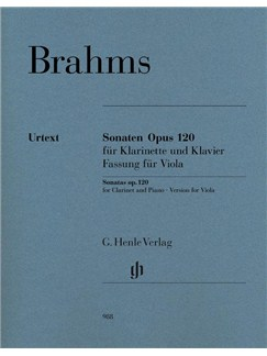 Johannes Brahms: Clarinet Sonatas Op.120 Arranged For Viola Books | Viola, Piano Accompaniment