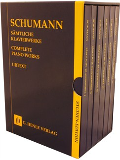 Robert Schumann: Complete Piano Works Study Score - 6 Volume Slipcase (Henle Urtext) Books | Piano
