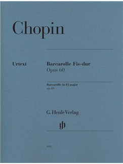 Frédéric Chopin: Barcarolle In F Sharp Op.60 (Urtext Edition) Books | Piano