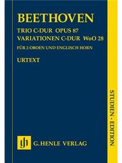 Ludwig Van Beethoven: Trio In C Op.87/Variations In C WoO 28 - Wind Study Score Books | Oboe (Duet), Cor Anglais
