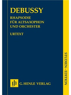 Claude Debussy: Rhapsody For Alto Saxophone And Orchestra (Study Score) Books | Alto Saxophone, Orchestra