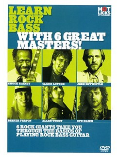Hot Licks: Learn Rock Bass With 6 Great Masters! DVDs / Videos | Guitar