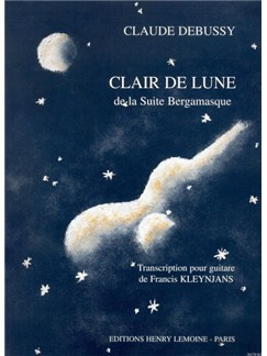 Claude Debussy: Clair De Lune (Guitar) Books | Guitar, Classical Guitar
