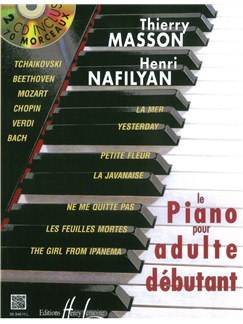 Thierry Masson: Piano Pour Adulte Débutant (Book/2CD) Books and CDs | Piano