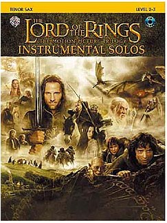 Lord Of The Rings: Instrumental Solos: Tenor Sax (Book And CD) Books and CDs | Tenor Saxophone