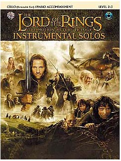 Lord Of The Rings: Instrumental Solos: Cello/Piano Accompaniment (Book And CD) CD et Livre | Accompagnement Piano, Violoncelle