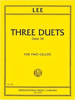 Sebastian Lee: Three Duets For Two Cellos, Op.36 Books | Cello (Duet)
